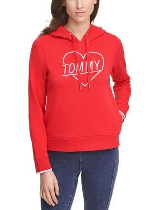 WOMEN Embroidered Heart Logo Hoodie