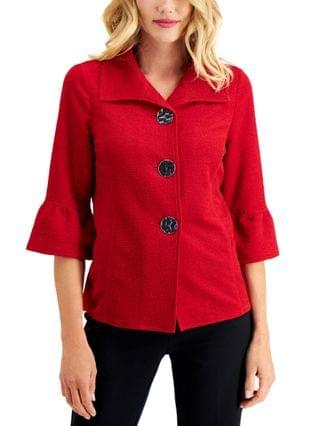 WOMEN Textured Bell-Sleeve Jacket Created for Macy's