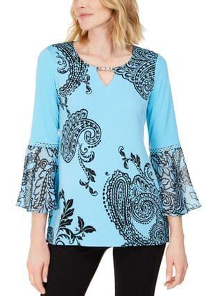WOMEN Petite Paisley Falls Tunic Created for Macy's