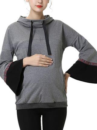 WOMEN Layla Maternity or Nursing Embroidery Active Hoodie