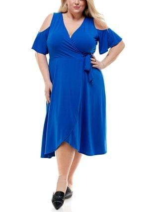 WOMEN Trendy Plus Size Cold-Shoulder Fit & Flare Dress