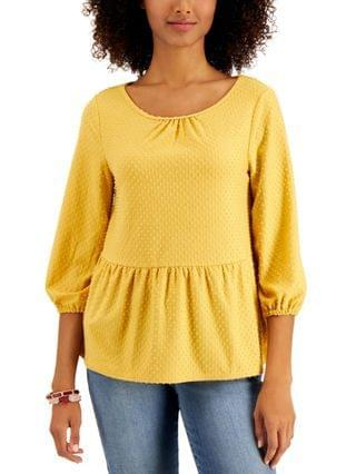 WOMEN Dot-Texture Top Created for Macy's