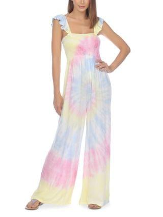 WOMEN Tie-Dye Jumpsuit Cover-Up