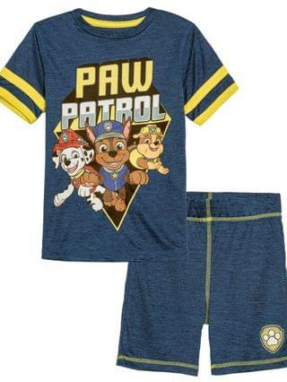 KIDS Little Boys Paw Patrol Group Active T-shirt and Shorts Set 2 Piece