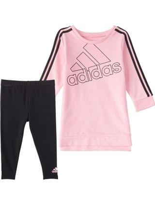 KIDS Toddler Girls Crew 3 Stripes Dress Tight Set