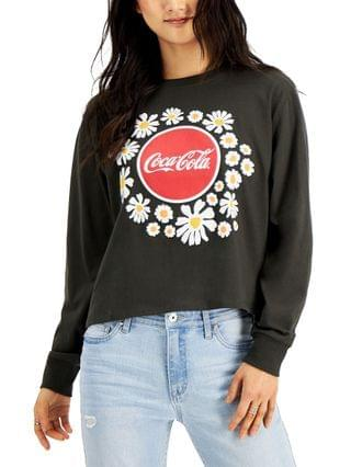 WOMEN Mighty Fine Juniors' Floral Coca-Cola Long Sleeve Top
