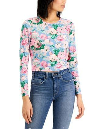 WOMEN Floral-Print Cropped Top