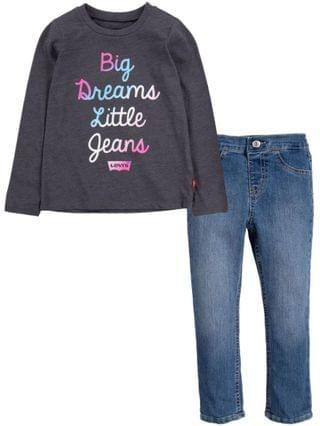 KIDS Little Girls T-shirt and Jeans Set