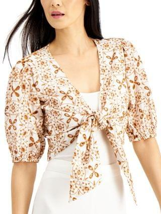 WOMEN INC Cotton Eyelet Crop Top Created for Macy's