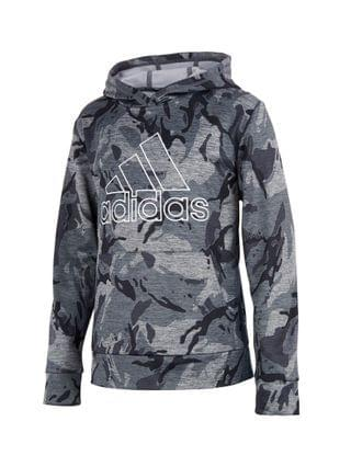 KIDS Little Boys Long Sleeve Heathered Core Camo Hooded Pullover