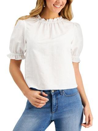 WOMEN Petite Cropped Ruffled Top Created for Macy's