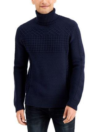 MEN Mixed Cable Turtleneck Sweater