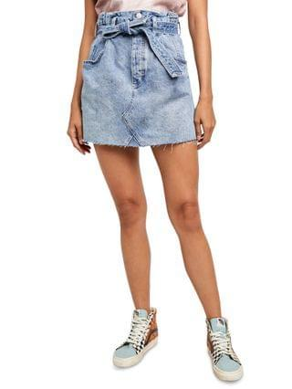 WOMEN East Of Eden Denim Mini Skirt