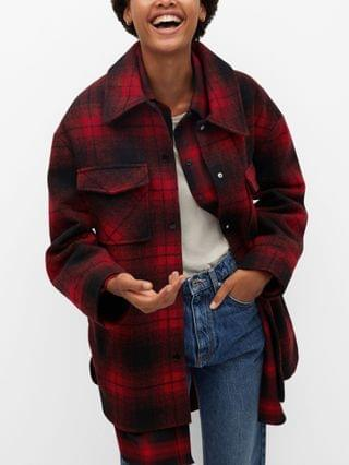 WOMEN Checked Overshirt