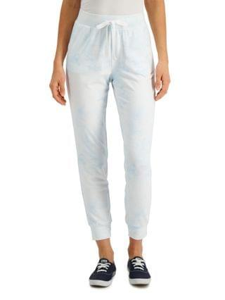 WOMEN Cloudy Tie-Dye Jogger Pants Created for Macy's