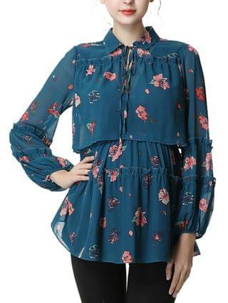 WOMEN Coco Maternity or Nursing Floral Print Blouse