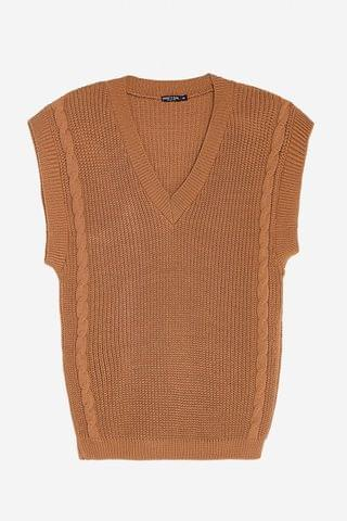 WOMEN Offers On the Cable Knit V-Neck Tank Top