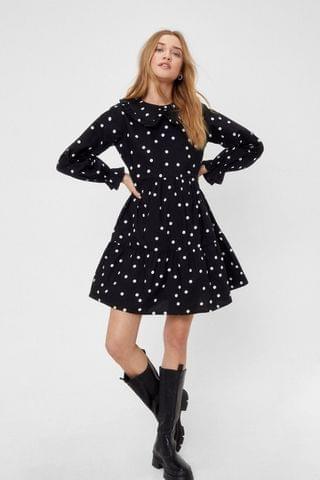 WOMEN Smock With You Polka Dot Mini Dress
