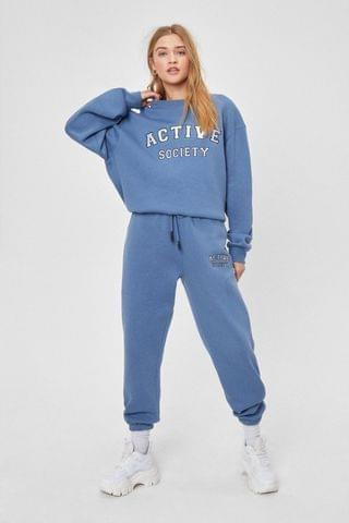 WOMEN Active Society Embroidered Joggers