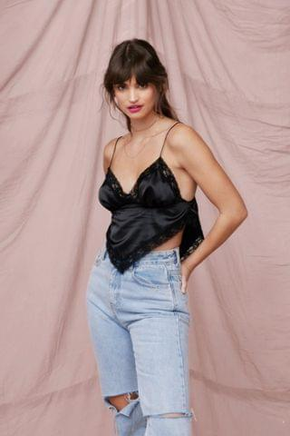 WOMEN Leave Hem to It Satin Cami Top