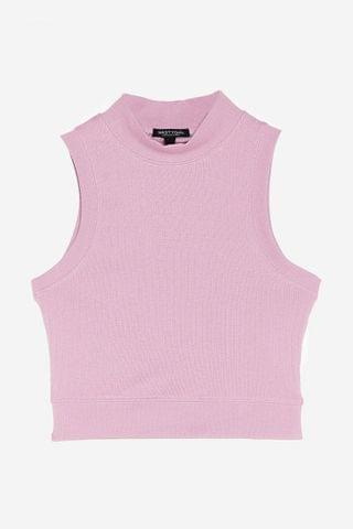 WOMEN Tanks a Lot High Neck Ribbed Top