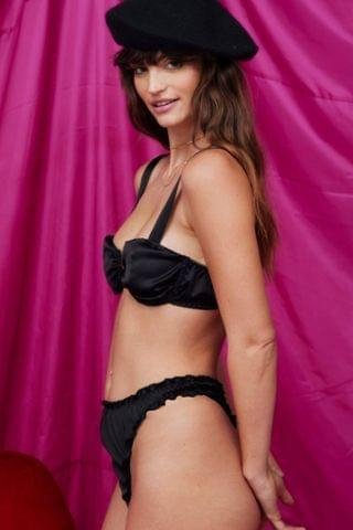 WOMEN Can't Help Falling in Love Satin Bralette and Thong Set