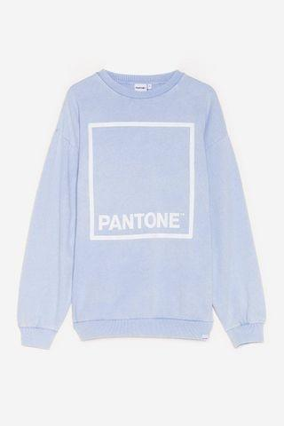WOMEN Paint a Picture Pantone Oversized Graphic Sweatshirt