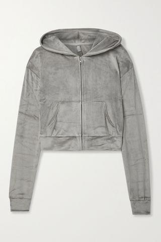 WOMEN SKIMS Velour hoodie - Smoke
