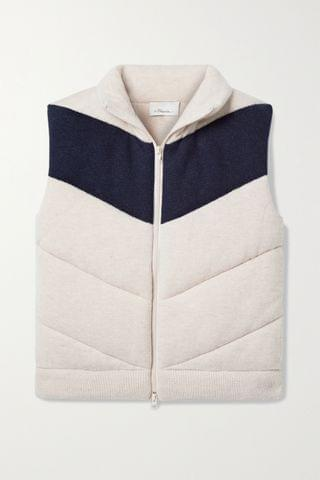 WOMEN 3.1 PHILLIP LIM Two-tone quilted wool-blend vest