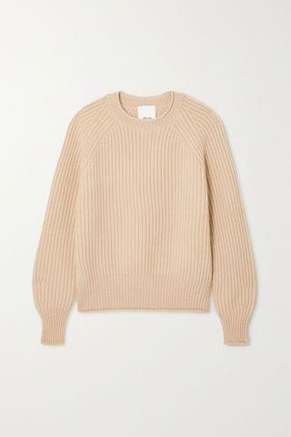 WOMEN ALLUDE Ribbed cashmere sweater