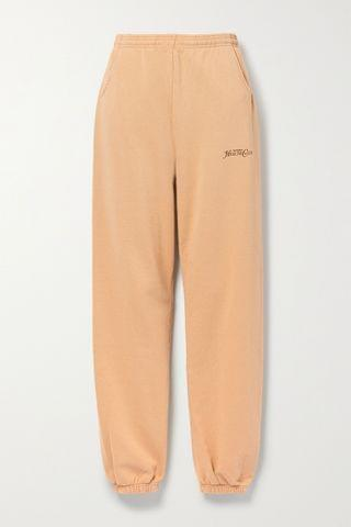 WOMEN SPORTY & RICH Rizzoli printed cotton-jersey track pants