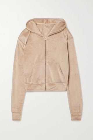 WOMEN SKIMS Velour hoodie - Honey