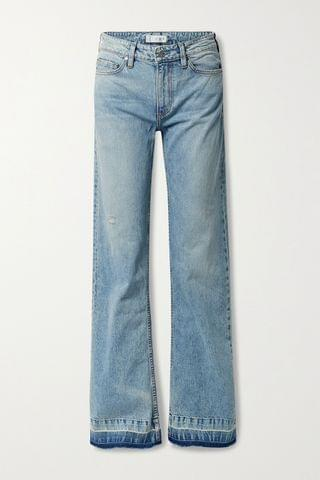 WOMEN TRE BY NATALIE RATABESI The Mimi distressed mid-rise wide-leg jeans