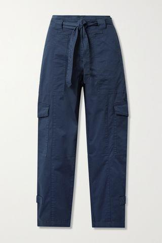 WOMEN ALEX MILL Expedition belted washed stretch-cotton slim-leg pants