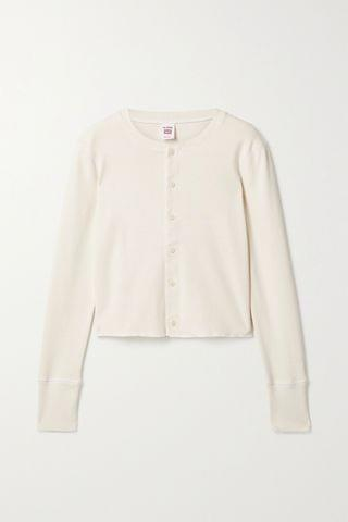 WOMEN RE/DONE + Hanes 50s cropped cotton cardigan