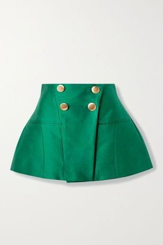 WOMEN TRE BY NATALIE RATABESI The Janet cotton and silk-blend mini skirt
