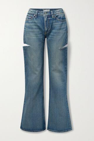 WOMEN TRE BY NATALIE RATABESI The Mimi distressed high-rise wide-leg jeans