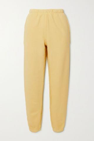 WOMEN LES TIEN Cotton-jersey track pants