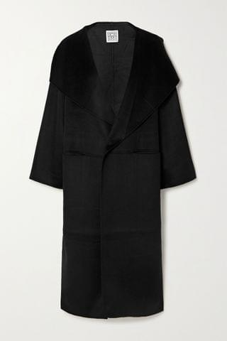 WOMEN TOT ME Signature wool and cashmere-blend coat