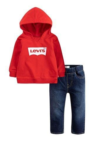KIDS Levi's Kids Red Batwing Infant Hoody And Jeans Set