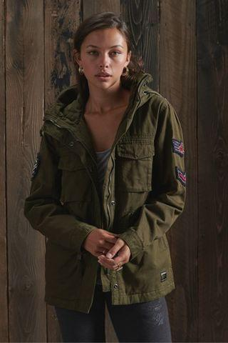 WOMEN Superdry Bling Relaxed Rookie Parka Jacket