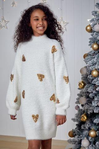 KIDS Fashion Union Heart Sequin Jumper Dress