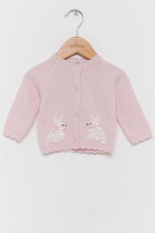 KIDS Trotters London Pink Isabelle Cardigan