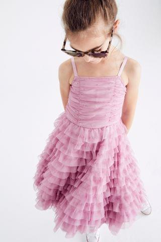 KIDS Lilac Tulle Tiered Party Dress (3-16yrs)