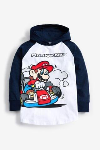 KIDS White Mario Kart Lightweight Hoody (3-16yrs)