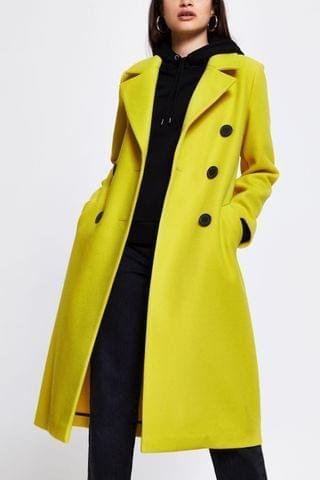 WOMEN River Island Yellow Drop Shoulder Coat