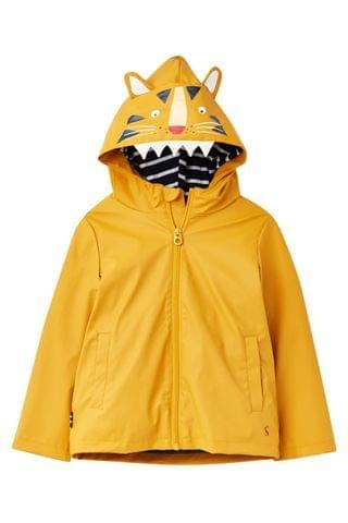 KIDS Joules Yellow Riverside Character Rubber Coat