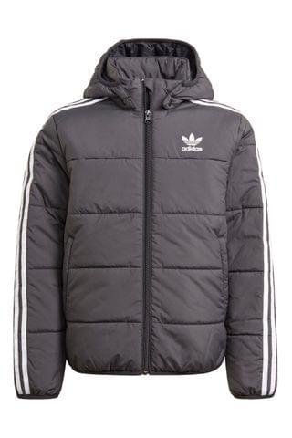 KIDS adidas Originals Black 3 Stripe Padded Jacket