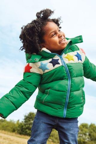 KIDS Boden Green Cosy Padded Jacket