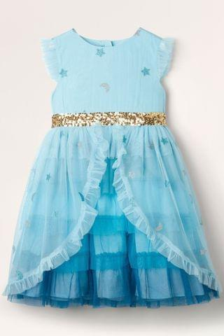 KIDS Boden Blue Tiered Tulle Party Dress